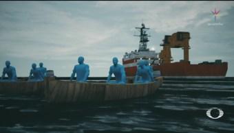 FOTO: Como piratas, hombres armados roban barco en aguas de Campeche, 13 noviembre 2019