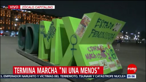 Foto: Concluye marcha 'Ni una Menos' Zócalo CDMX 25 Noviembre 2019