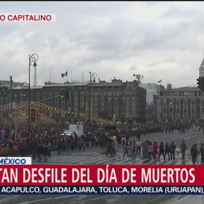 Concluye Mega Desfile de Día de Muertos en la CDMX
