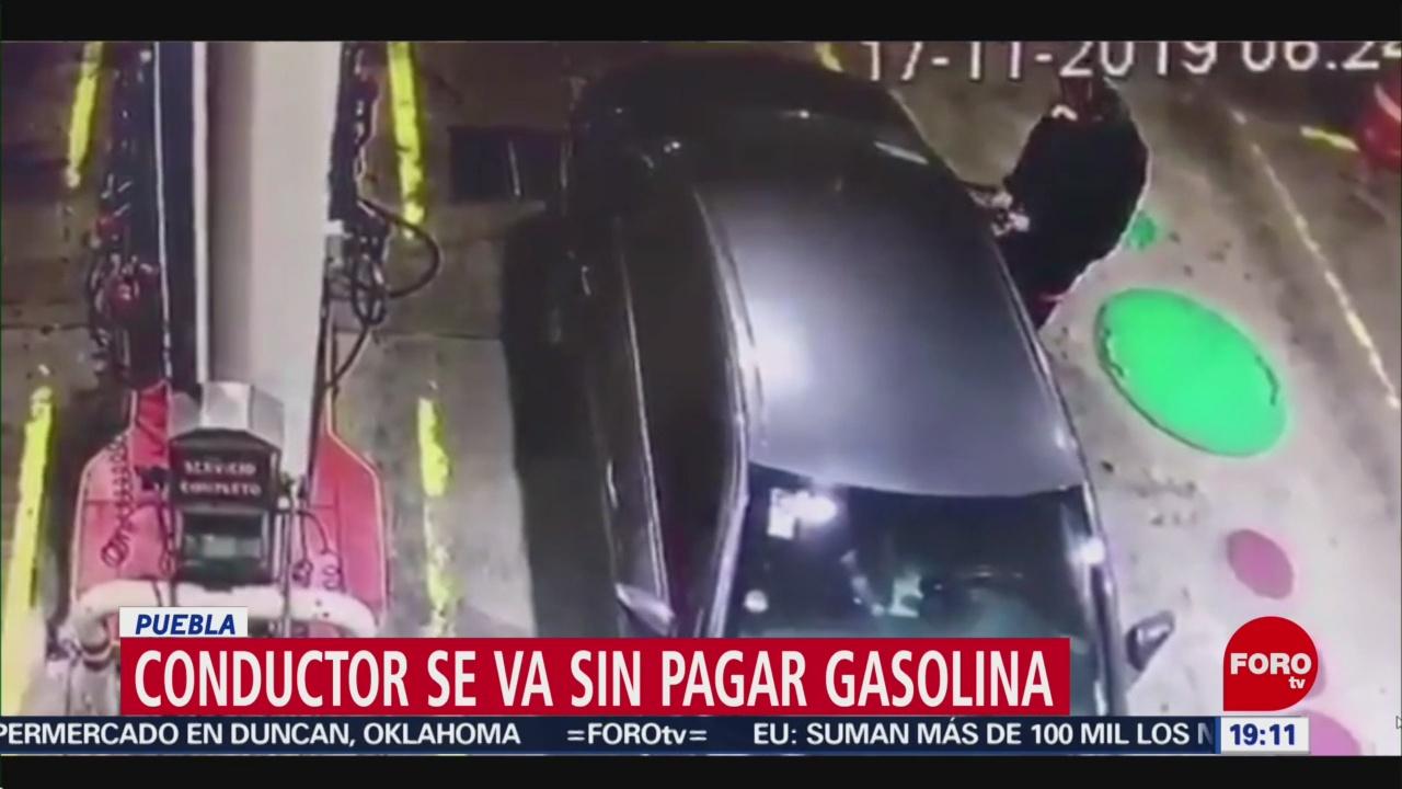 FOTO:Conductor se va sin pagar gasolina, en Puebla, 18 noviembre 2019