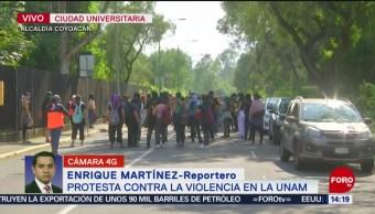 FOTO: Continúa Marcha Contra Violencia Género UNAM,