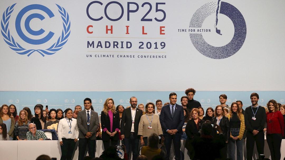 Foto: El presidente Pedro Sánchez durante su visita a las instalaciones que albergarán la COP25 en Ifema, 30 noviembre 2019