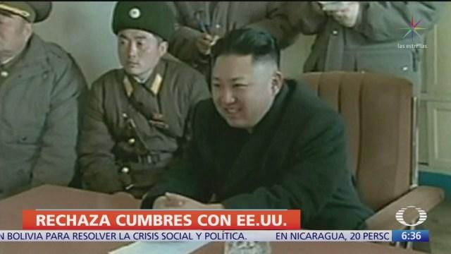 Foto: Corea Norte ya no está interesado nuevas cumbres EU