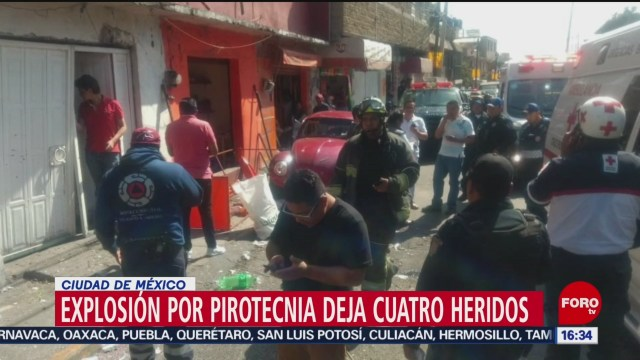 FOTO: Cuatro heridos por explosión de pirotecnia en la CDMX, 10 noviembre 2019