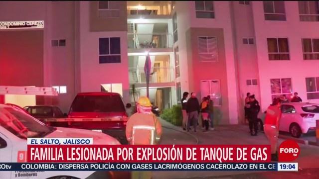FOTO: Cuatro lesionados por explosión provocada por fuga gas LP Jalisco