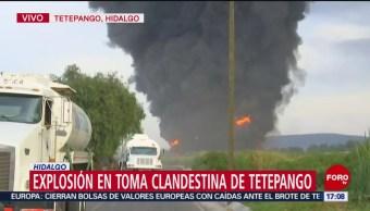 FOTO: Cumple 5 Horas Incendio Toma Clandestina Tetepango