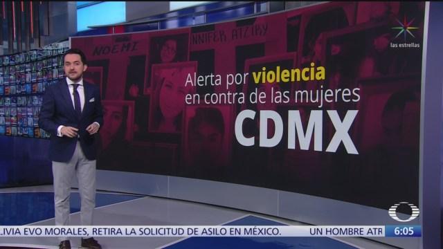 Decretan alerta de género por violencia en contra de las mujeres en CDMX
