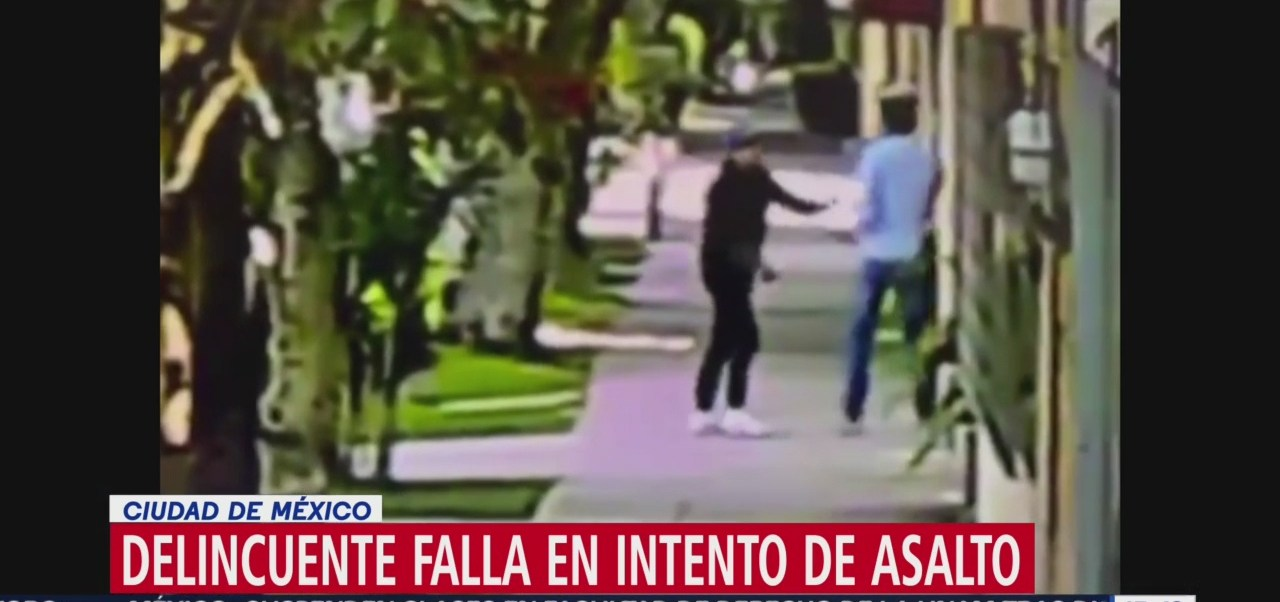FOTO: Video Delincuente Falla Intento Asalto CDMX