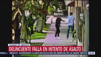 FOTO: Video Delincuente Falla Intento Asalto CDMX