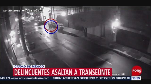 FOTO: Video Delincuentes asaltan transeúnte Ciudad México