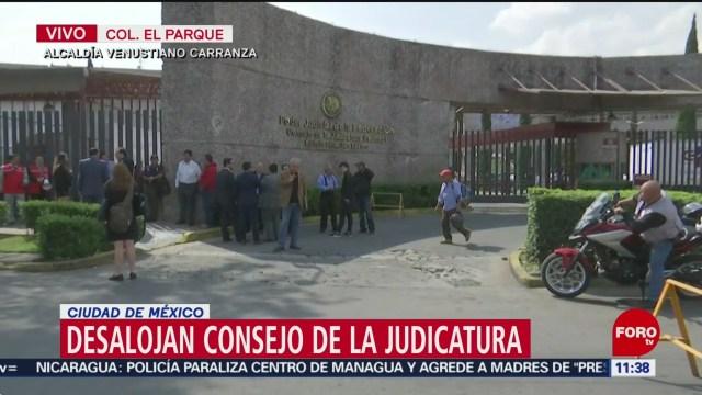 Desalojan Consejo de la Judicatura por presunto artefacto explosivo