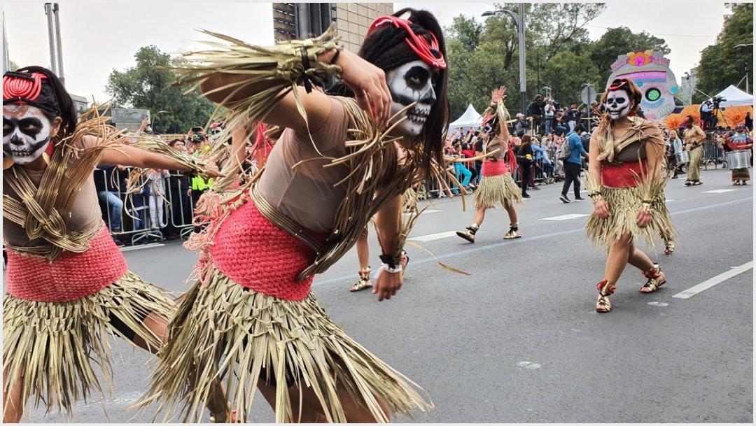 Foto: El Mega Desfile de Día de Muertos inició a las 13:00 horas, 2 de noviembre de 2019 (Twitter Secretaría de Cultura)