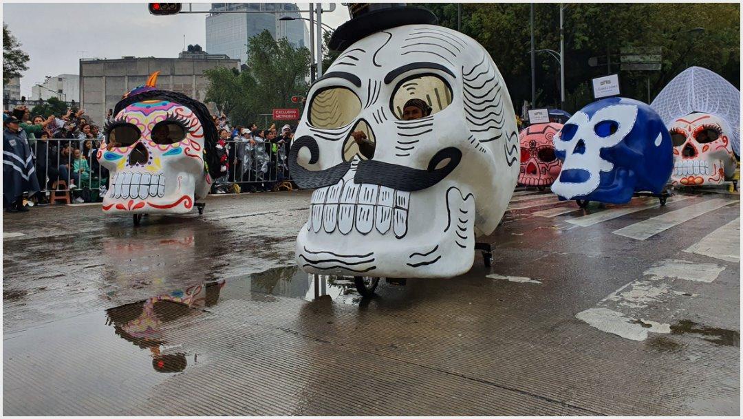 Foto: Los 'tricicáneos' desfilaron por Paseo de la Reforma, 2 de noviembre de 2019 (Secretaría de Cultura)
