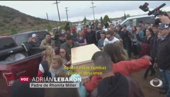 Foto: Despiden Rhonita Cuatro Niños Lebarón Funeral 8 Noviembre 2019