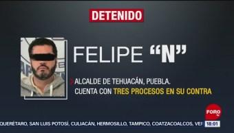 FOTO: Detienen a alcalde de Tehuacán, Puebla, 16 noviembre 2019