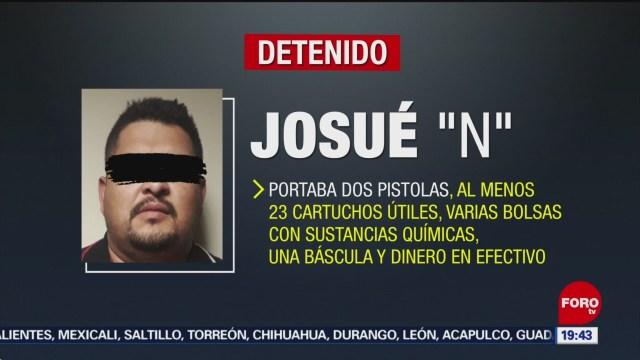 FOTO: Detienen a hombre con armas y presunta droga, 9 noviembre 2019