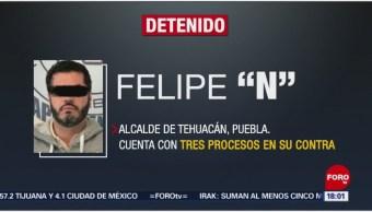 Foto: Felipe Patjane, alcalde de Tehuacán, fue detenido en la CDMX, 16 de noviembre de 2019 (Foro TV)