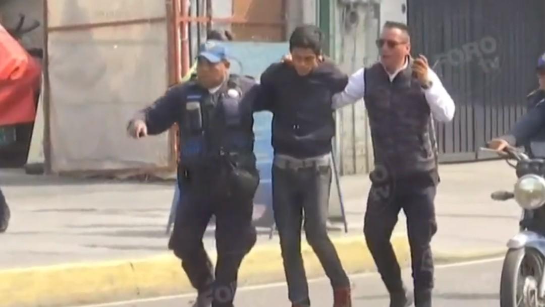 Foto: Detienen a sujeto que intentó robar celular a mujer en Iztapalapa, 4 de noviembre de 2019