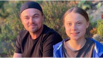 Foto: Leonardo DiCaprio se reunió con Greta Thunberg, 2 de noviembre de 2019 (Leonardo DiCaprio Instagram)
