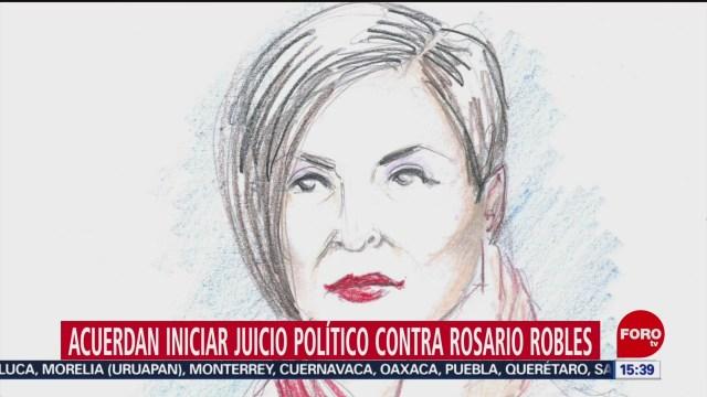 FOTO: Diputados aprueban iniciar juicio político contra Rosario Robles