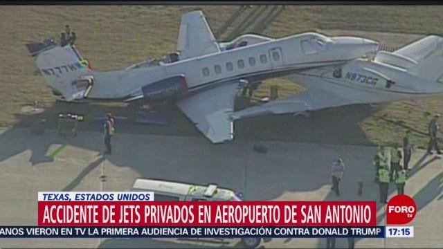 FOTO:Dos aviones chocan en aeropuerto de Texas, EEUU, 15 noviembre 2019
