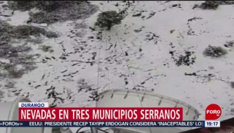 FOTO: Durango se pinta blanco por nevada