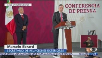 Ebrard fija postura de México ante renuncia de Evo Morales