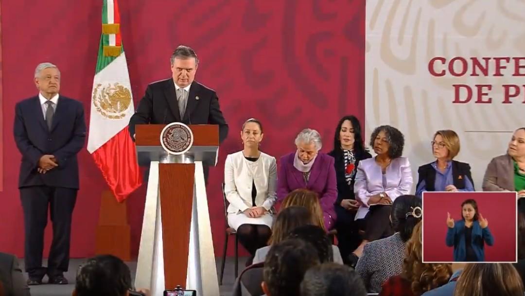 Foto: Ebrard: No conviene a EE.UU. ni a México designar como terroristas a cárteles, 25 de noviembre de 2019