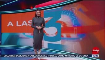 FOTO: Clima con Daniela Álvarez 12 noviembre 2019