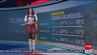 FOTO: El clima con Daniela Álvarez del 18 de noviembre de 2019, 18 noviembre 2019