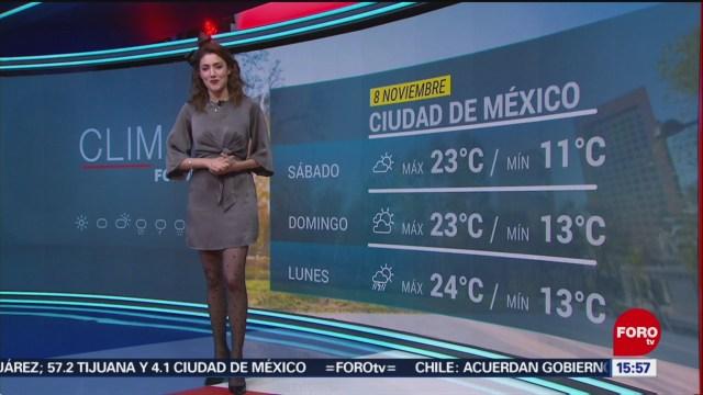 FOTO: Clima con Daniela Álvarez 8 noviembre 2019,