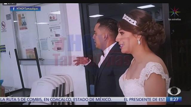 El día de su boda regalan banquete a hospital infantil