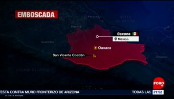 Foto: Emboscan Policías Estatales Oaxaca Cinco Muertos Hoy 8 Noviembre 2019