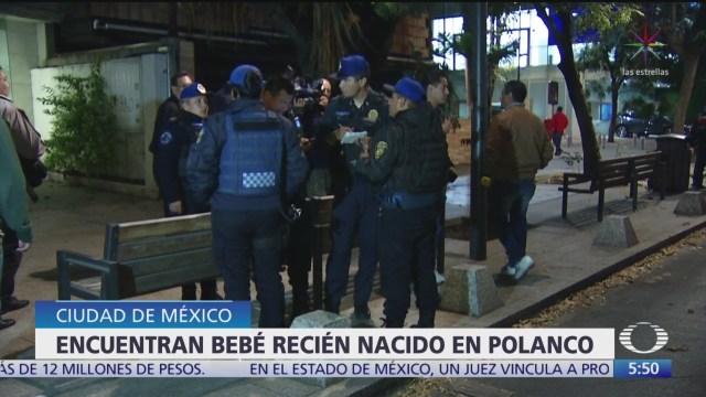 Encuentran a bebé abandonado en calles de Polanco en CDMX