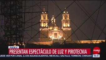 FOTO: Espectáculo de luz y pirotecnia en Cholula, Puebla, 9 noviembre 2019