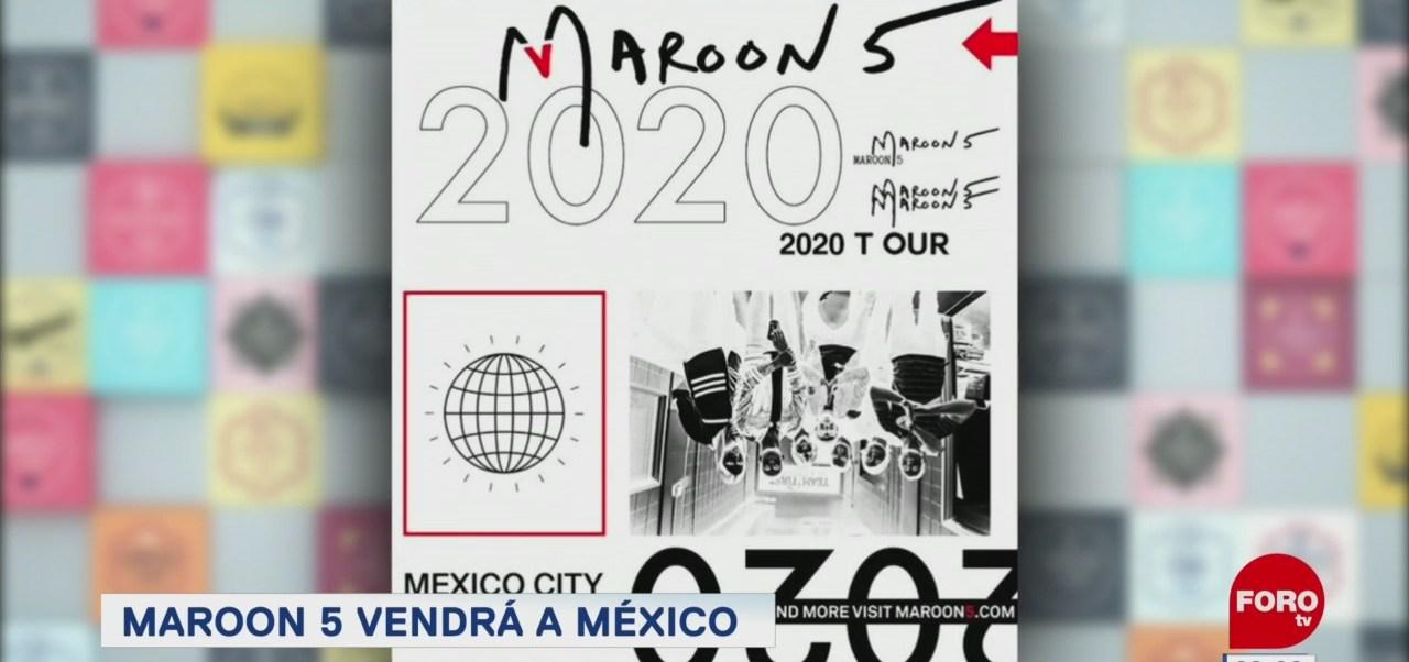 #EspectáculosenExpreso: Maroon 5 vendrá a México