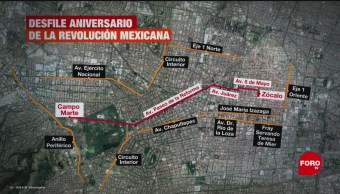 FOTO:Esta es la ruta del desfile del 20 de noviembre en CDMX, 19 noviembre 2019