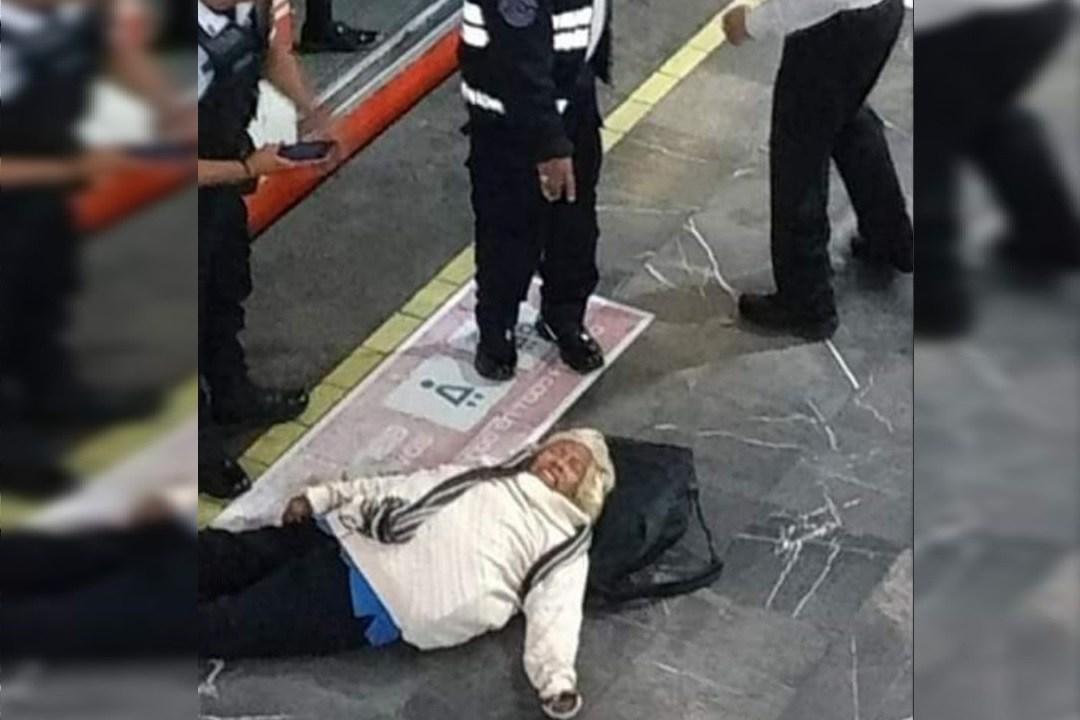 Foto: Mujer de la tercera edad sufre caída en estación del Metro Pantitlán 27 noviembre 2019