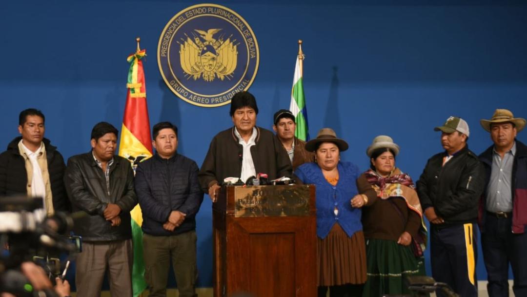 El presidente de Bolivia, Evo Morales, anuncia la convocatoria de nuevas elecciones generales, 10 noviembre 2019