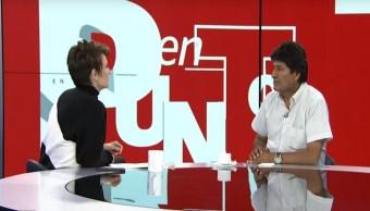 Es importante la continuidad en un gobierno, dice Evo Morales a Denise Maerker
