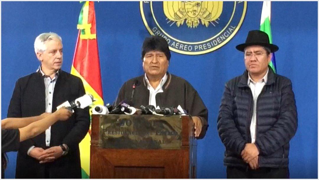 Imagen: Evo Morales denuncia que la casa de su hermana fue quemada, 9 de noviembre de 2019 (EFE)