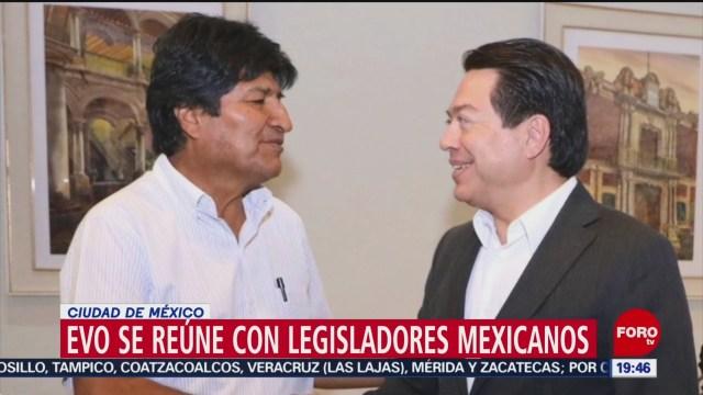 FOTO:Evo Morales se reúnen con legisladores mexicanos, 12 noviembre 2019