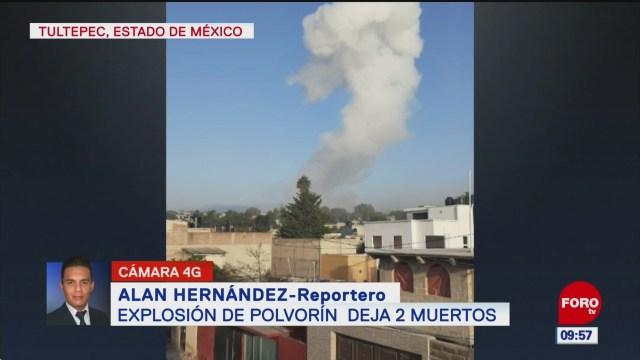 Explosión deja dos muertos en Tultepec, Estado de México