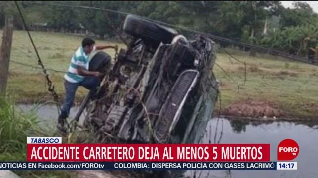 FOTO: Fallecen cinco jóvenes ahogados tras accidente en Tabasco, 24 noviembre 2019