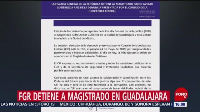 FOTO: FGR Detiene Magistrado Guadalajara,