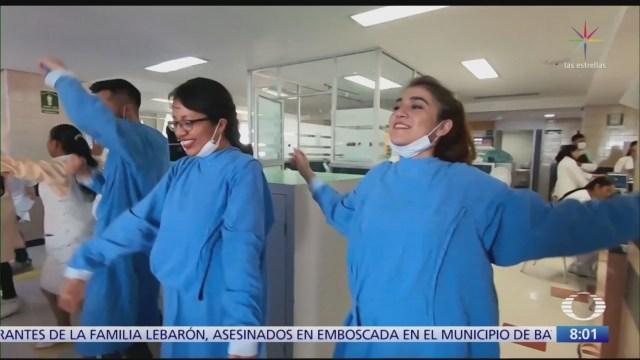 Flashmob anima a niños con cáncer en Hospital de Pediatría