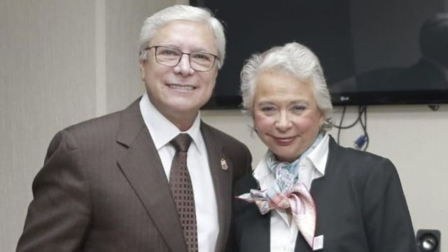 Foto: Jaime Bonilla, gobernador de Baja California, y Olga Sánchez Cordero, secretaría de Gobernación.