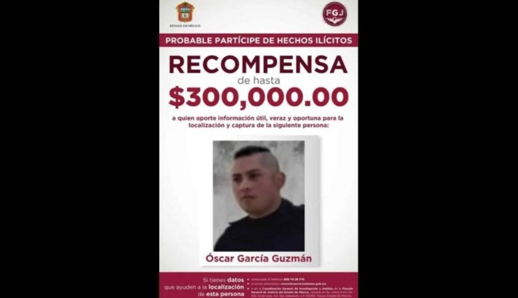 Foto: Óscar García Guzmán, presunto feminicida de Toluca. Twitter/@FiscalEdomex
