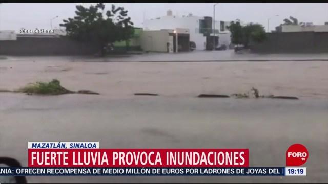 Foto: Inundaciones Mazatlán Provocada Fuerte Lluvia Hoy 28 Noviembre 2019
