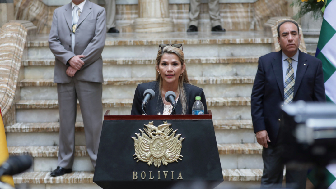 La presidenta interina Jeanine Áñez, 13 de noviembre de 2019 (Reuters)